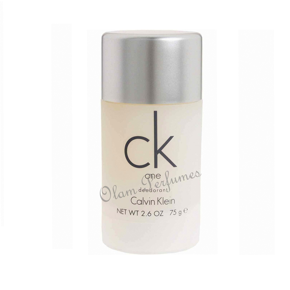 Calvin Klein CK One Unisex Alcohol Free Deodorant Stick 2.6oz by