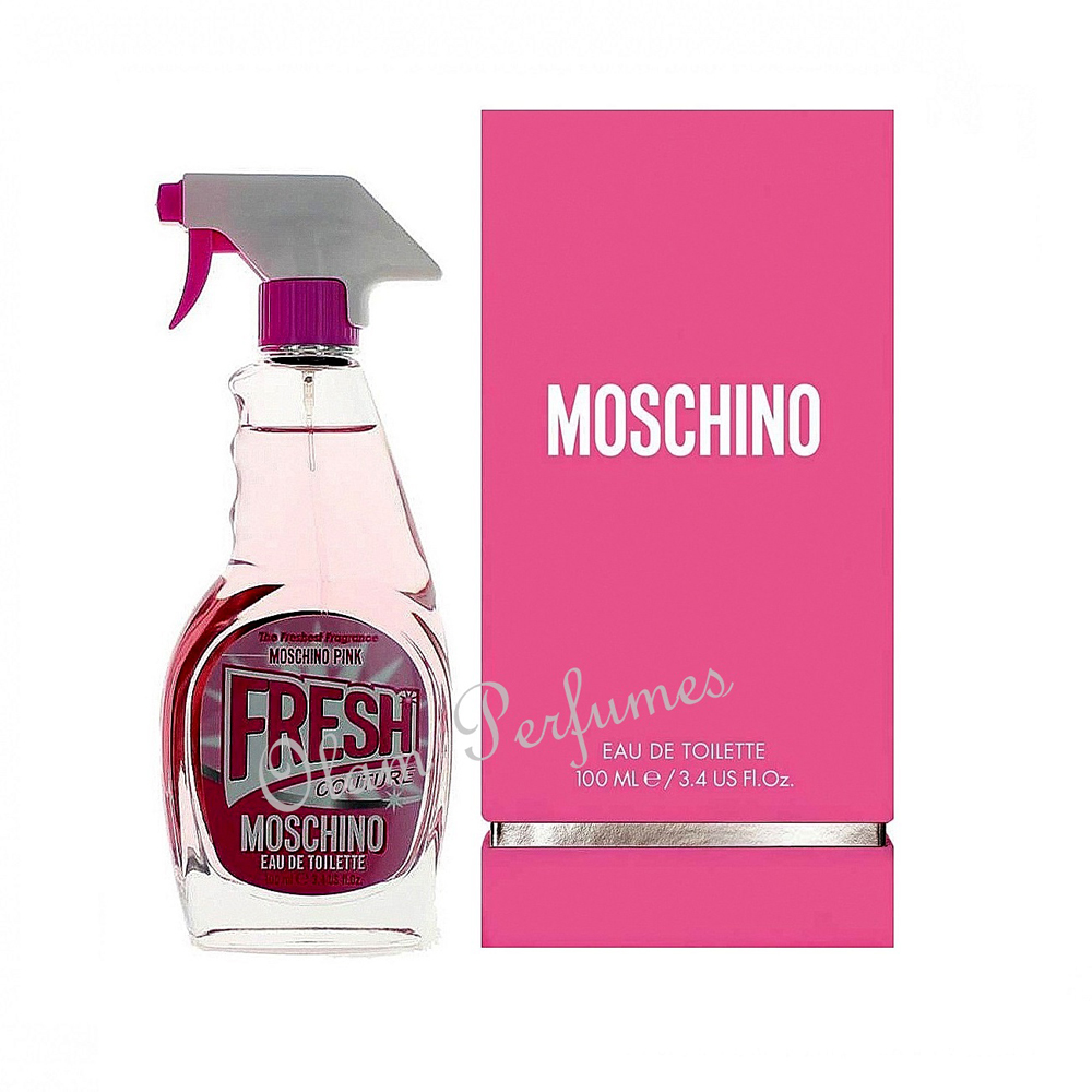Moschino Pink Fresh Couture For Women Eau de Toilette Spray 3.4o