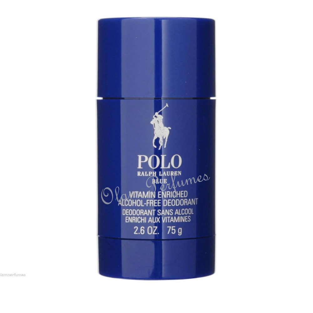 Ralph Lauren Polo Blue Alcohol Free Deodorant Stick 2.6oz 75g