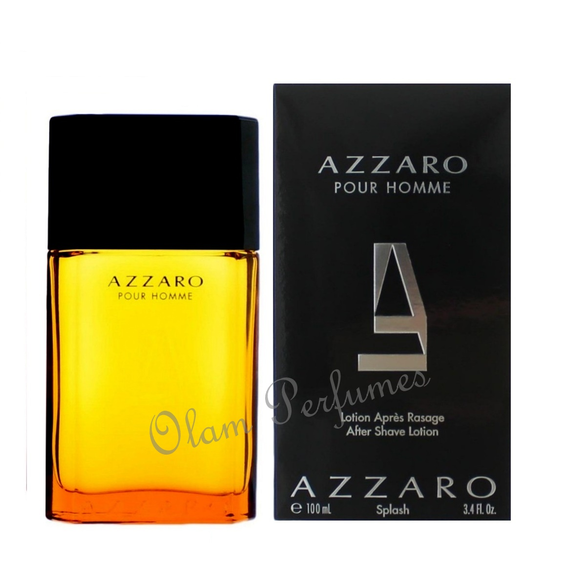 Azzaro Pour Homme After Shave Splash 3.3oz 100ml