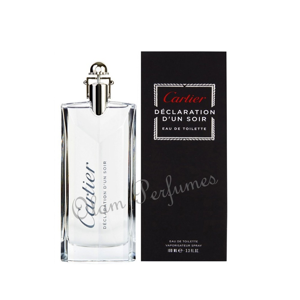 Cartier Declaration D'Un Soir Eau de Toilette Spray 3.3oz 100ml