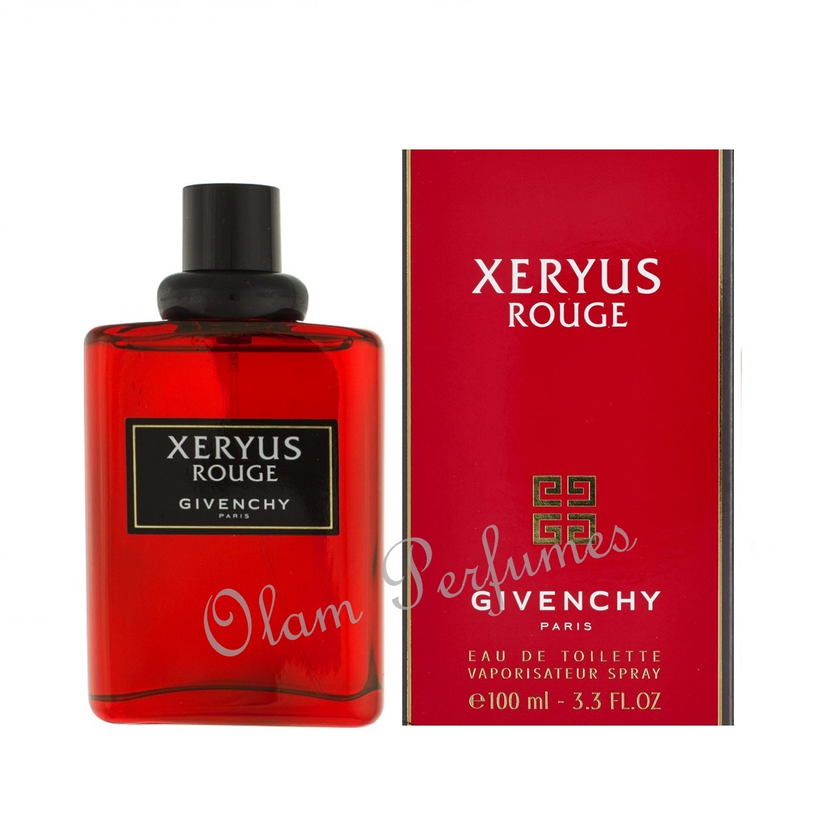 Givenchy Xeryus Rouge For Men Eau de Toilette Spray 3.3oz 100ml