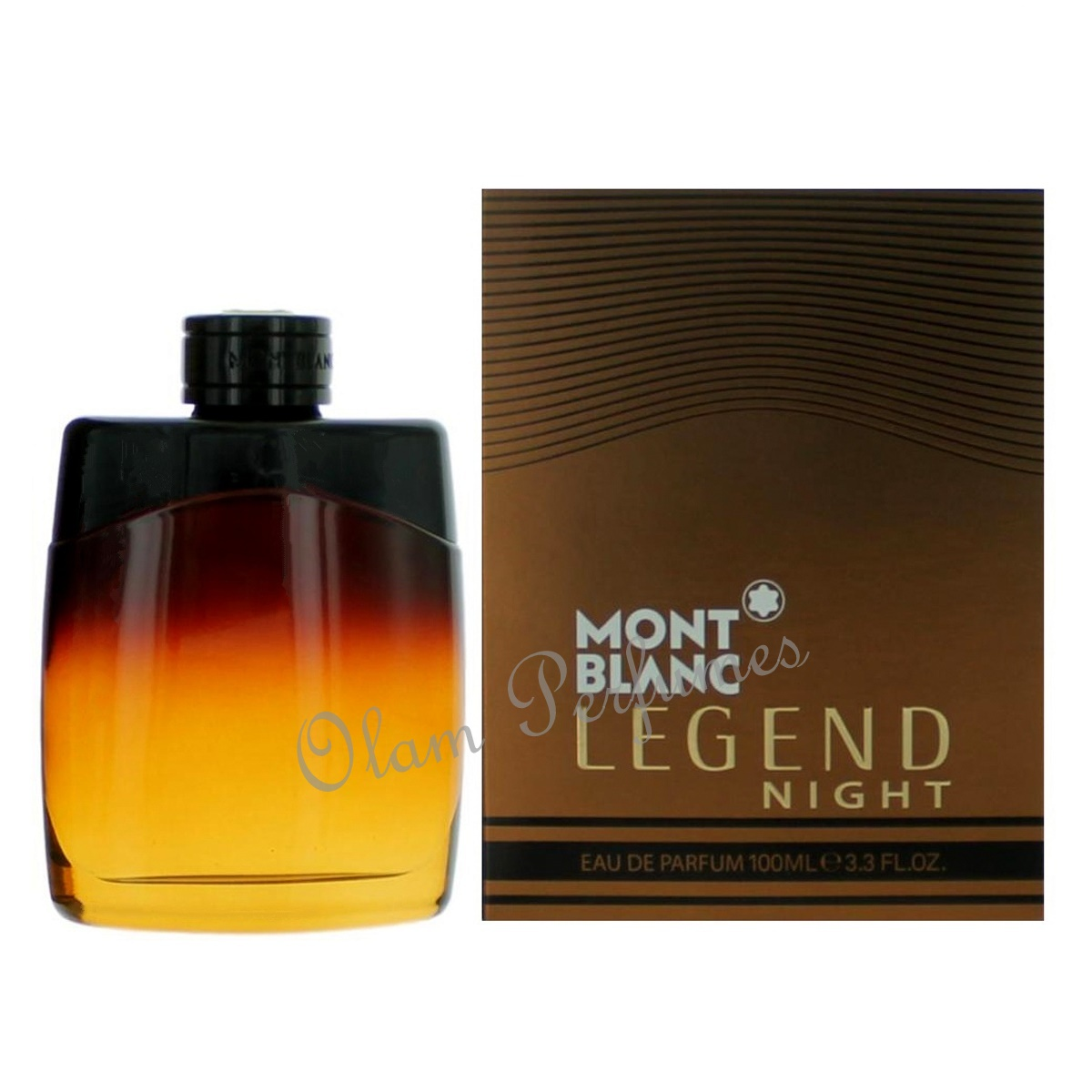 Mont Blanc Legend Night For Men Eau de Parfum Spray 3.4oz 100ml