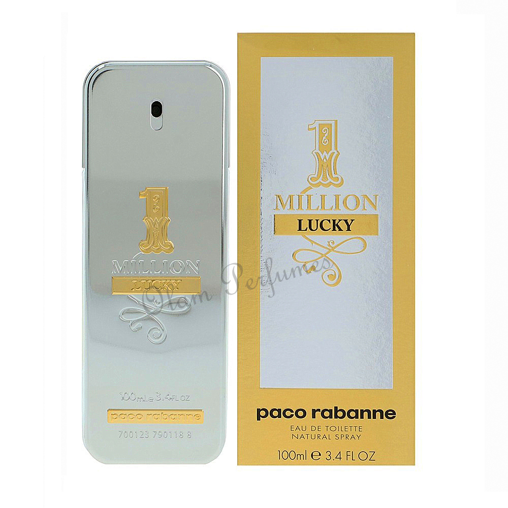 Paco Rabanne 1 Million Lucky Men EDT Spray 3.4oz 100ml