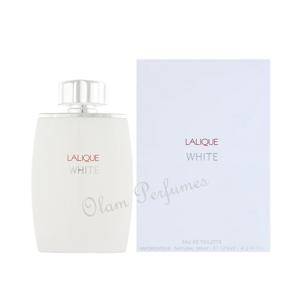 Lalique White For Men Eau de Toilette Spray 4.2oz 125ml