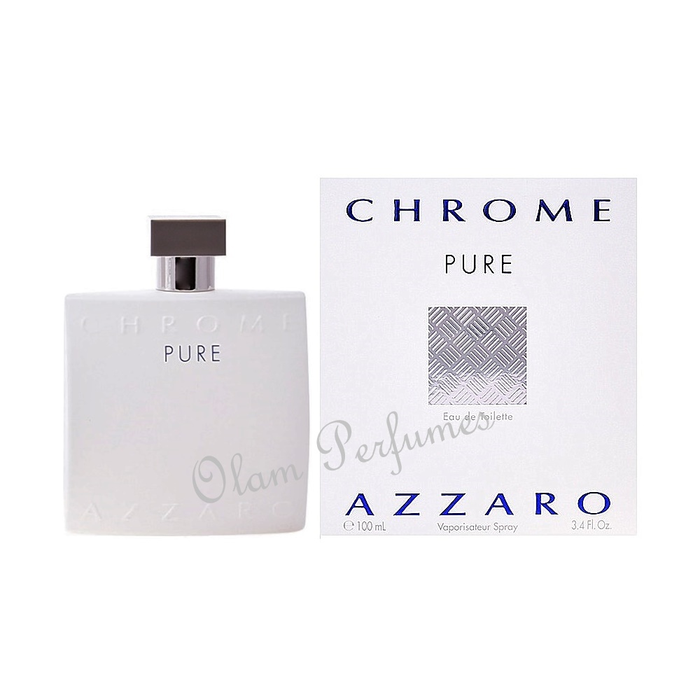 Azzaro Chrome Pure for Men Eau de Toilette Spray 3.4oz 100ml