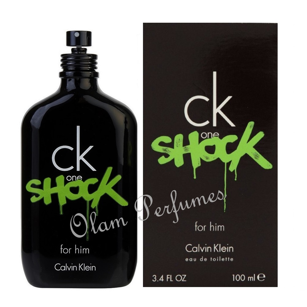 Calvin Klein Ck One Shock For Men Eau De Toilette Spray 3.4oz