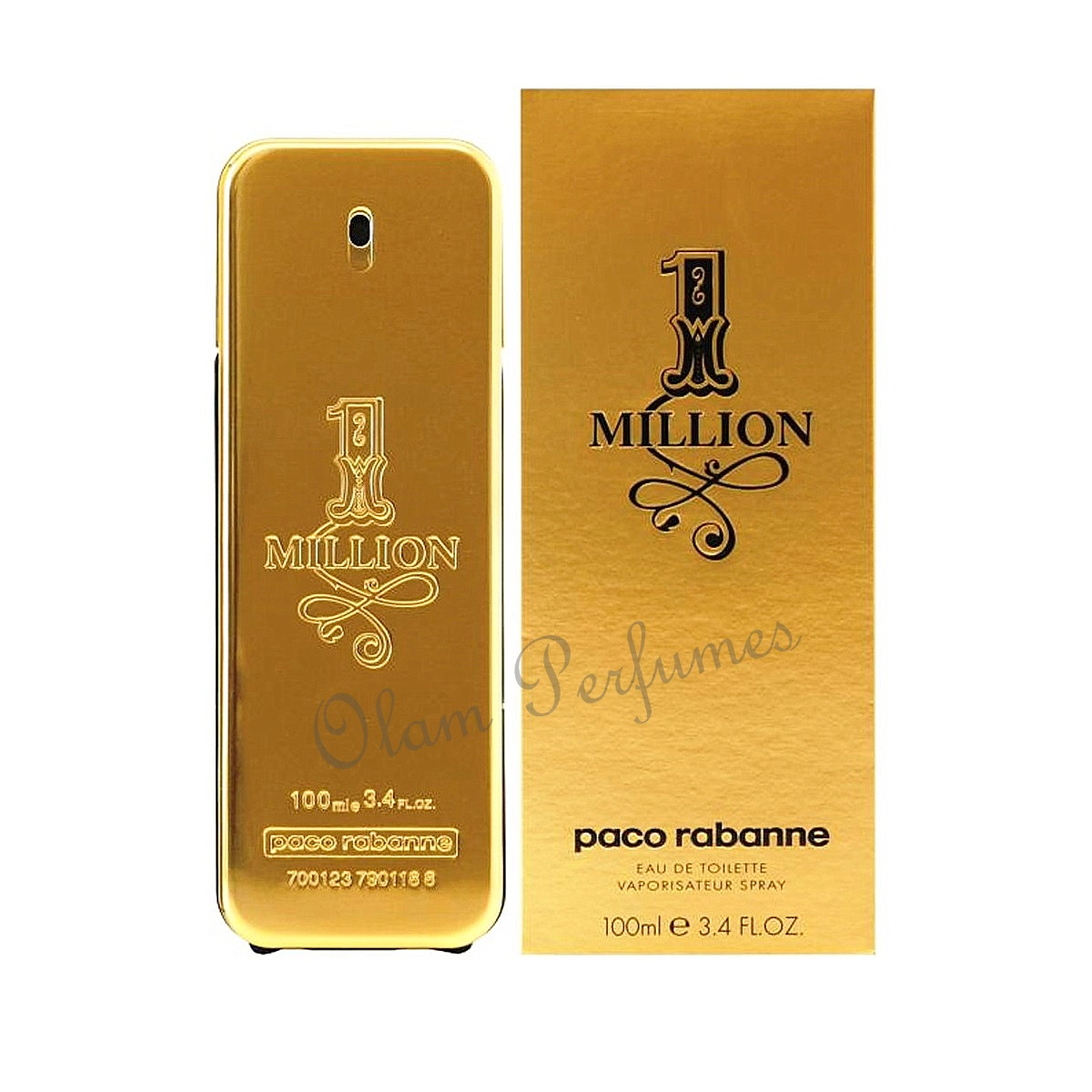 1 Million For Men Eau De Toilette Spray 3.4oz 100ml