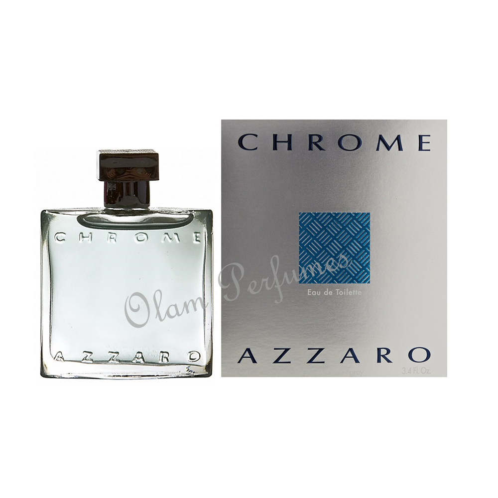 Azzaro Chrome Eau De Toilette Spray 3.4oz 100ml