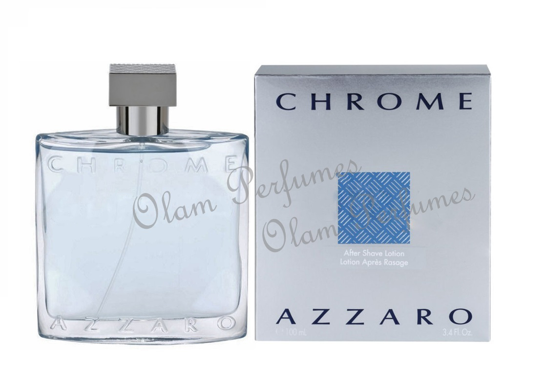 Azzaro Chrome After Shave Lotion 3.4oz 100ml