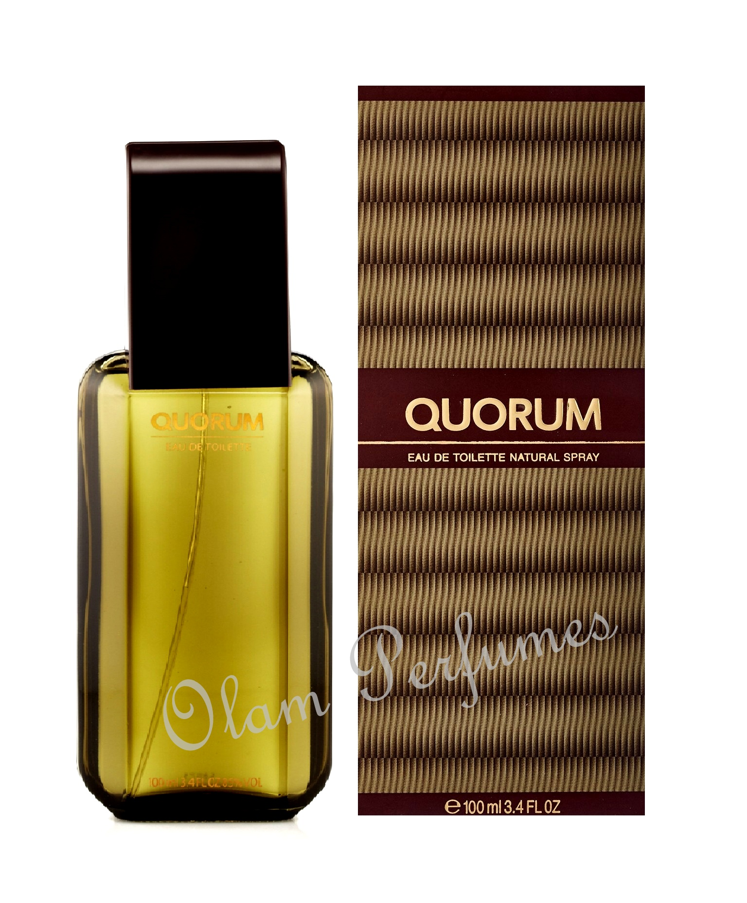 QUORUM EAU DE TOILETTE SPRAY 3.4oz