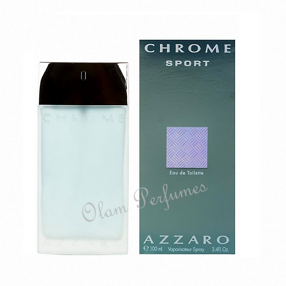 Azzaro Chrome Sport Eau De Toilette Spray 3.4oz 100ml