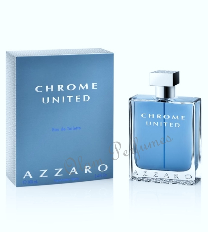 Azzaro Chrome United Eau de Toilette Spray 3.4oz 100ml