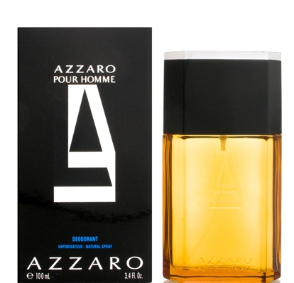 Azzaro Pour Homme Deodorant Spray 3.4oz 100ml Glass Bottle