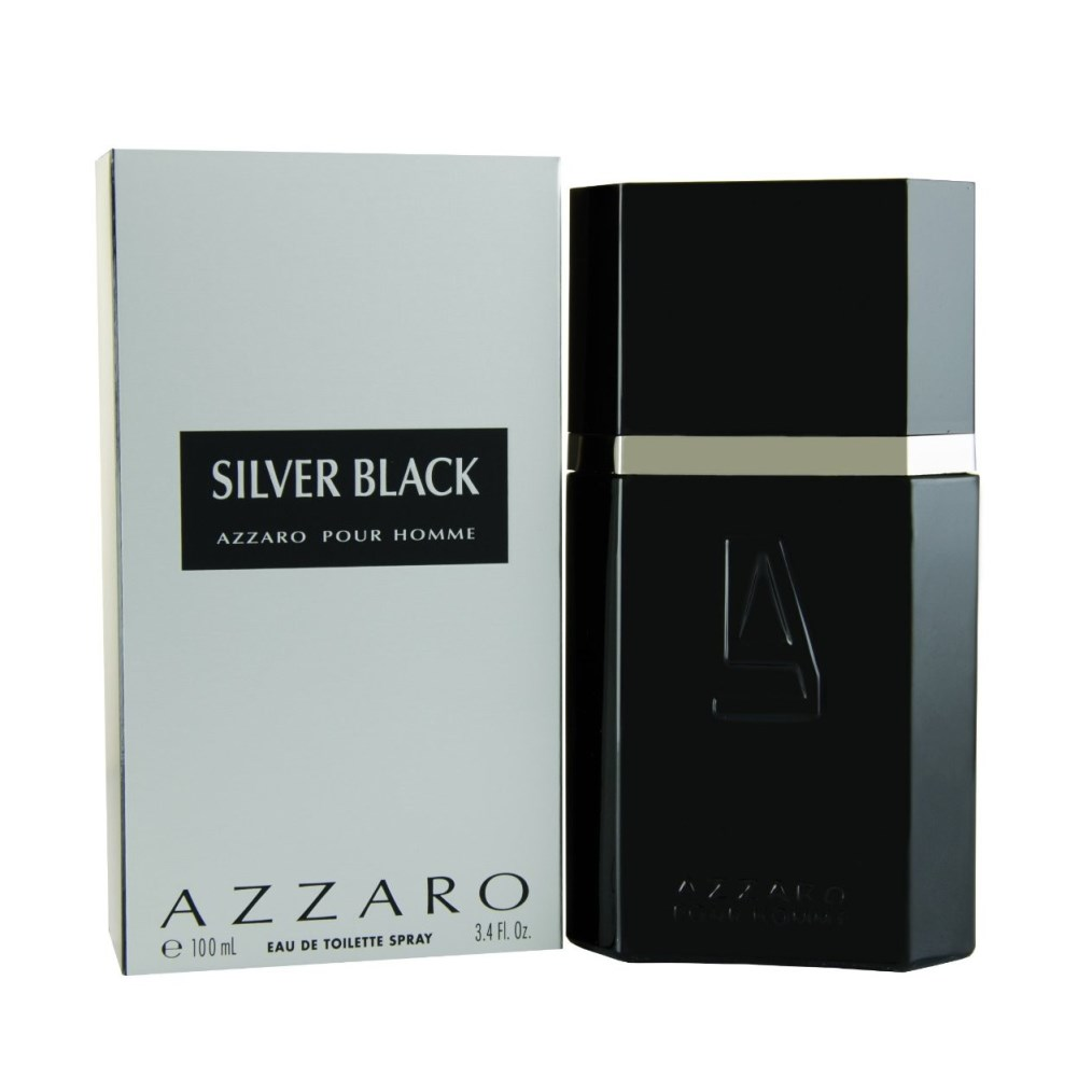 Azzaro Silver Black Eau De Toilette Spray 3.4oz 100ml