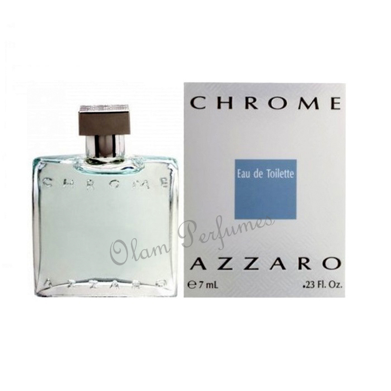 Azzaro Chrome Miniature Eau De Toilette 0.23oz 7ml