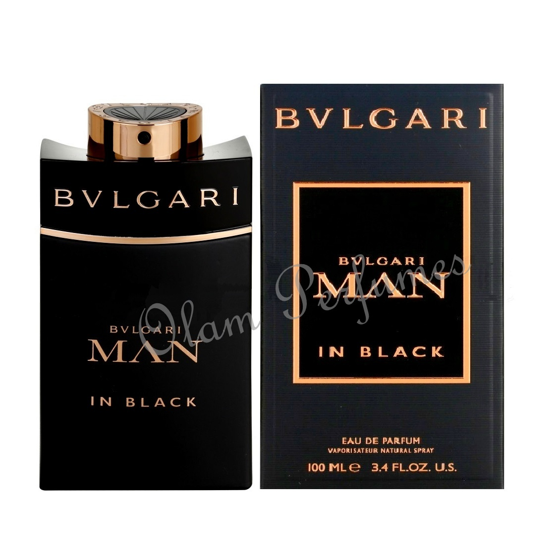 Bvlgari Man in Black Eau de Parfum Spray 3.4oz 100ml
