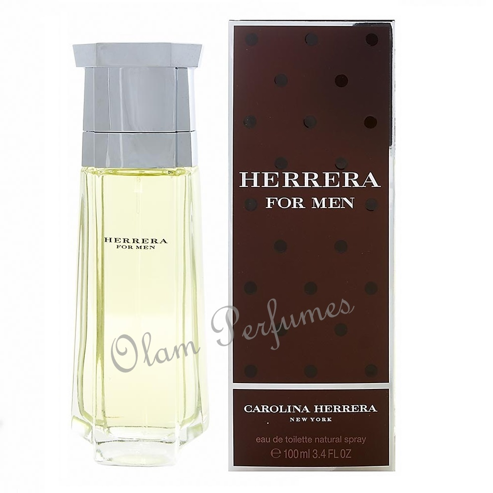 Herrera For Men Eau de Toilette Spray 3.4oz 100ml