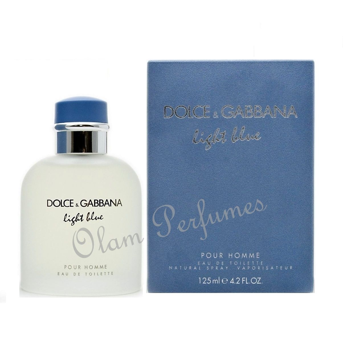 Light Blue Pour Homme Eau de Toilette Spray 4.2oz 125ml