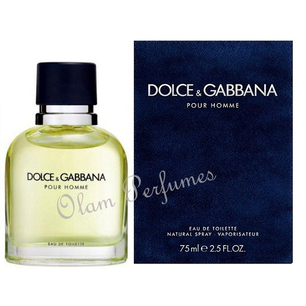 Dolce & Gabbana Pour Homme Men Eau De Toilette Spray 2.5oz 75ml