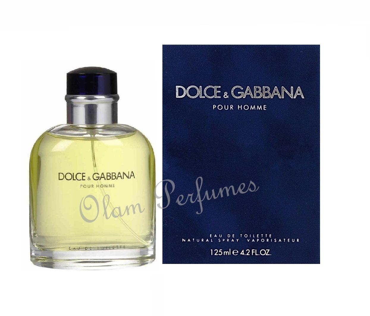 Dolce & Gabbana Pour Homme Men Eau De Toilette Spray 4.2oz 125ml