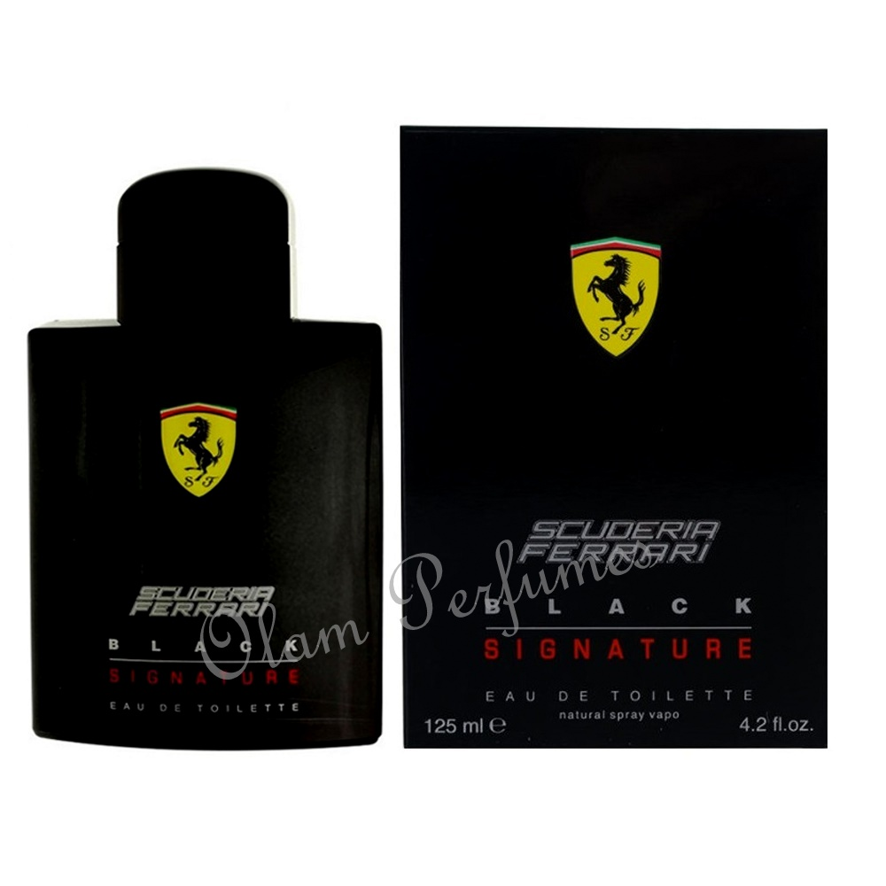 Scuderia Ferrari Black Signature Men Eau de Toilette 4.2oz 125ml