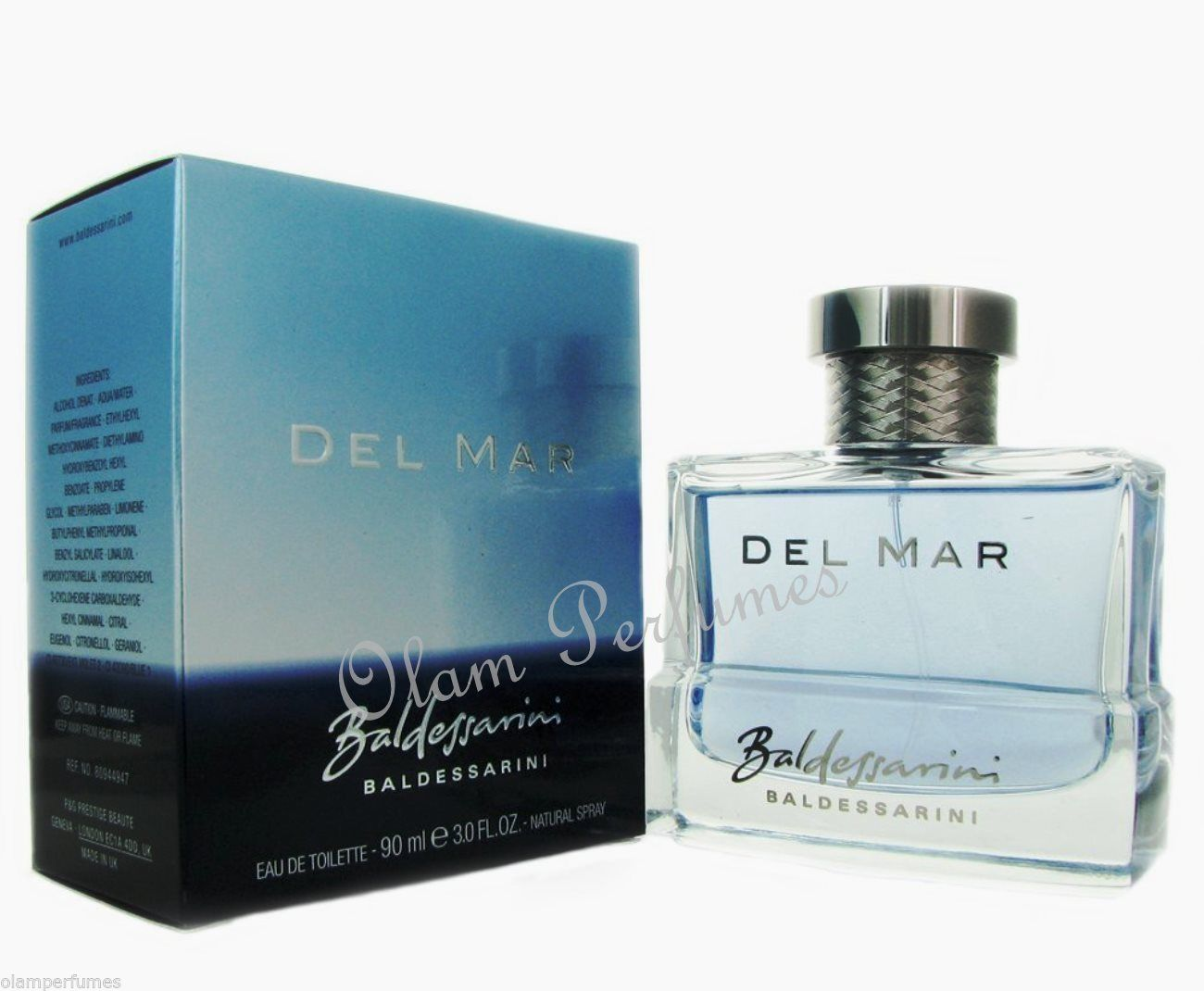 Baldessarini Del Mar For Men Eau De Toilette Spray 3.0oz 90ml