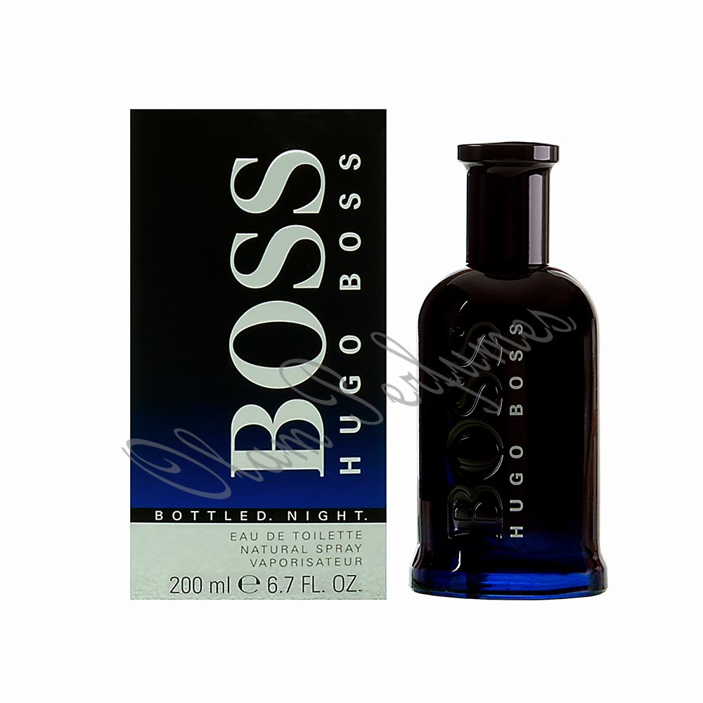 Boss Bottled Night For Men Eau De Toilette Spray 6.7oz 200ml