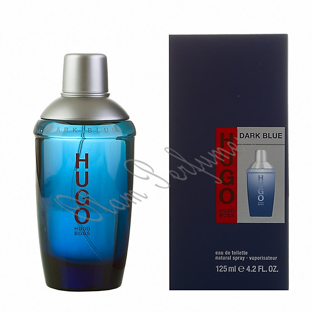 Hugo Dark Blue Men Eau de Toilette Spray 2.5oz 75ml