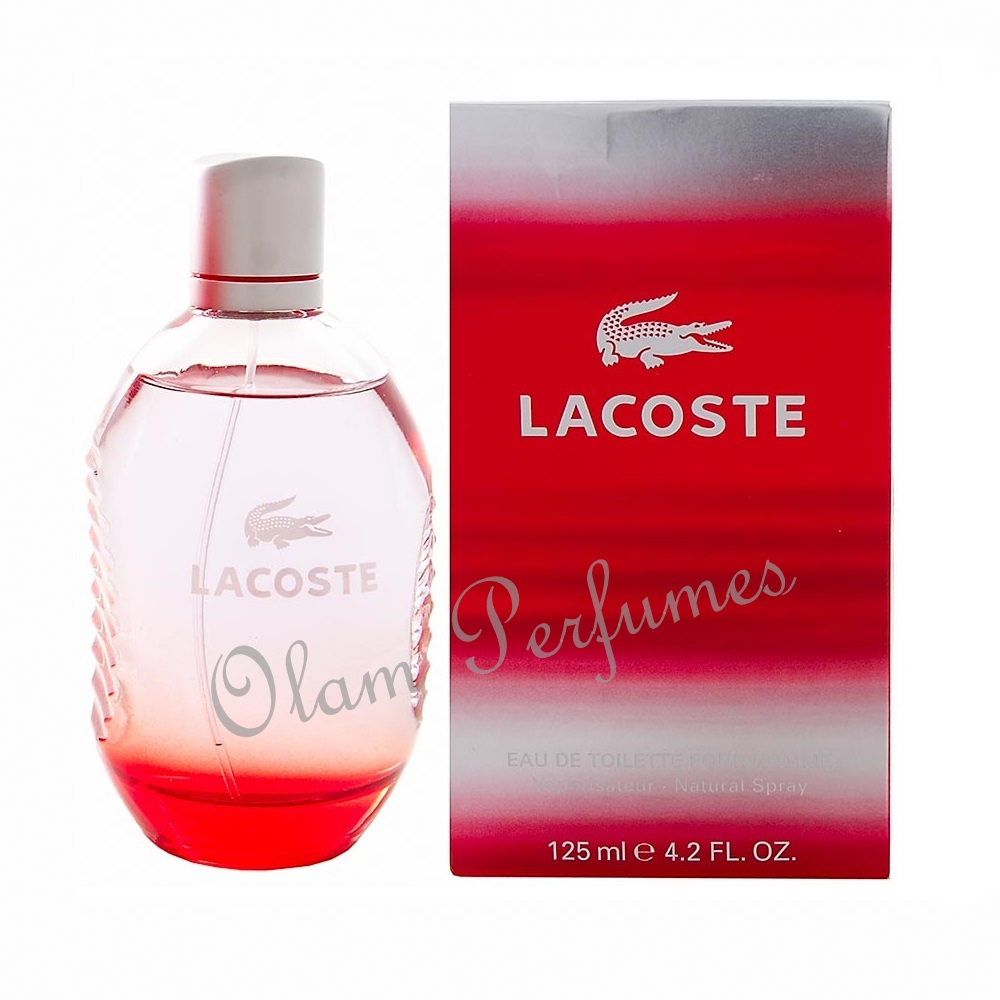 Lacoste Red Style In Play Eau De Toilette Spray 4.2oz 125ml