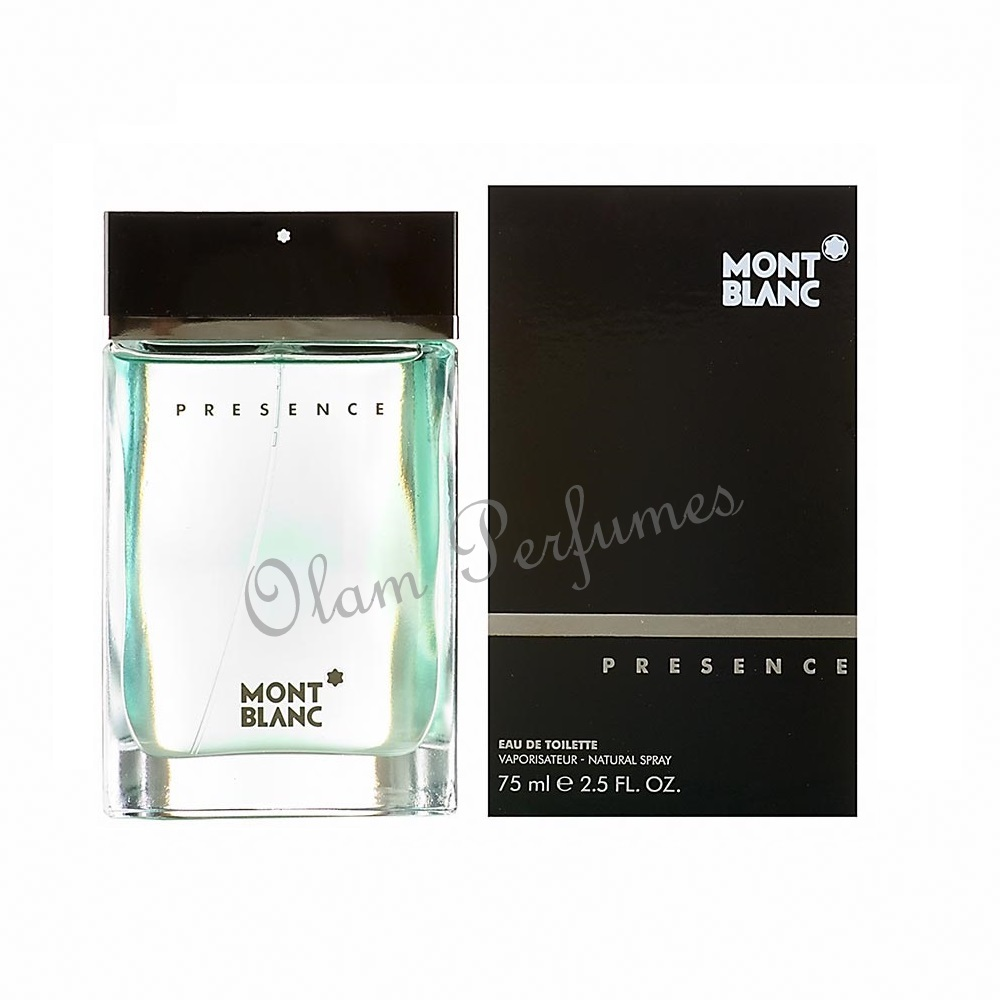 Mont Blanc Presence For Men Eau de Toilette Spray 2.5oz 75ml