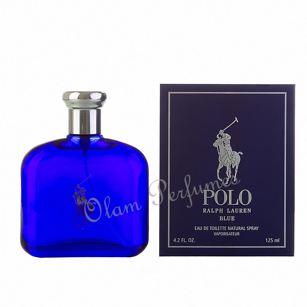 Ralph Lauren Polo Blue For Men Eau De Toilette 4.2oz 125ml