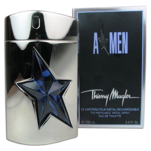 "Angel Men ""A Men\"" Metal Case Eau de Toilette Spray 3.4oz 100ml"